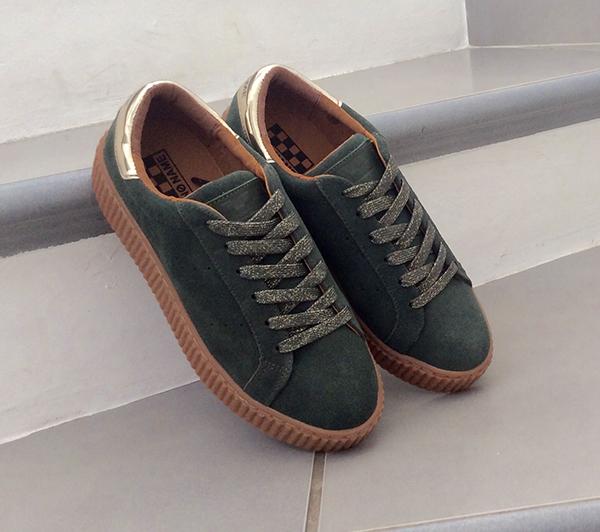 sneaker-no-name-picadilly--en-suede-vert